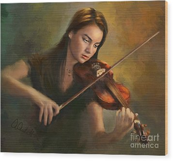 Young Soloist Wood Print by Andrea Auletta