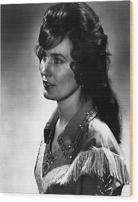 Younger Loretta Lynn Wood Print by Retro Images Archive