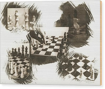 Your Move Wood Print by Caitlyn  Grasso