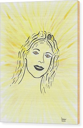 Your Spirit Shines On Wood Print