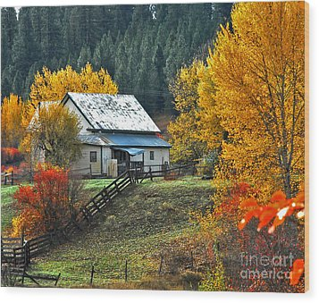 Yourn Barn Wood Print