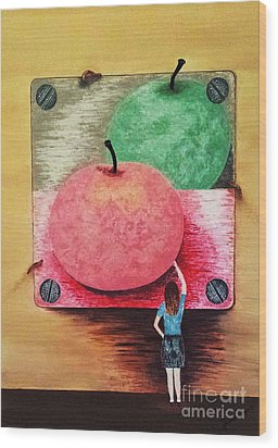 Youth And Maturity Wood Print by Jasna Gopic