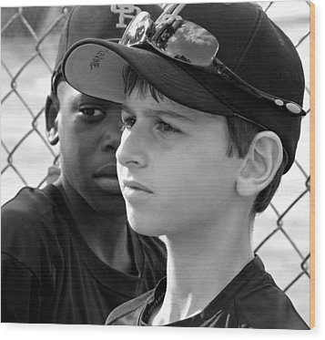Youth Baseball 3 Wood Print