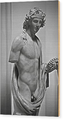 Youthful Dionysus Wood Print by RicardMN Photography
