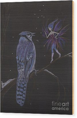 You've Been Kinda Mean Wood Print by Dawn Fairies