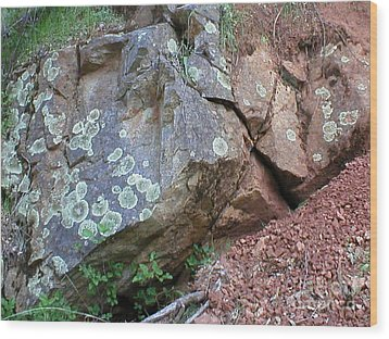 Wood Print featuring the photograph Yuba River Rock by Rachel Lowry