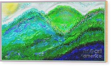 Van Gogh Sunrise Wood Print