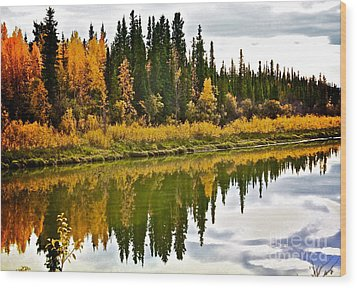 Yukon Autumn Wood Print