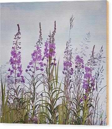 Yukon State Flower Wood Print by Priska Wettstein