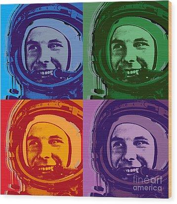 Yuri Gagarin  Wood Print by Jean luc Comperat