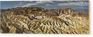 Zabriskie Point Panorama Wood Print by Eduard Moldoveanu