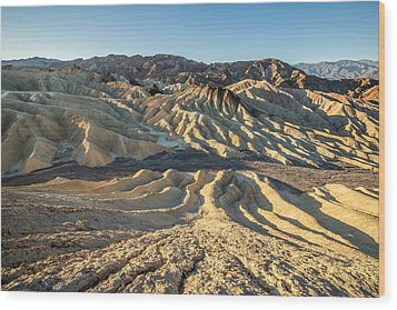 Zabriskie Point Spectacular Mountains  Wood Print by Pierre Leclerc Photography