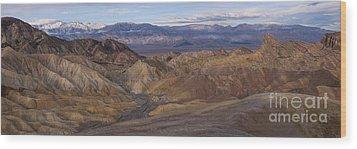 Zabriskie Point Sunrise - Death Valley National Park Wood Print by Sandra Bronstein