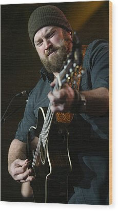 Zac Brown Band Wood Print by Don Olea