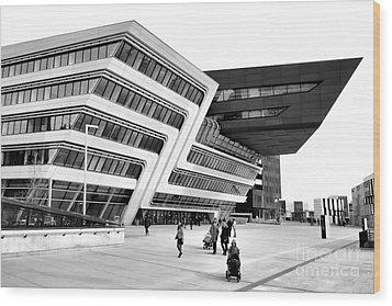 Zaha Hadid Library Center Wu Campus Vienna Wood Print