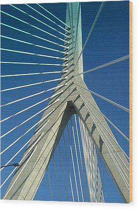 Zakim Bridge Boston Wood Print