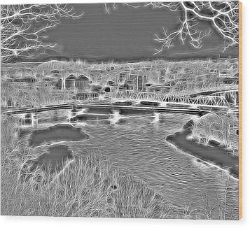 Zanesville Ohio Ybridge Wood Print