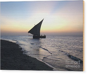 Zanzibar Sunset 20 Wood Print by Giorgio Darrigo