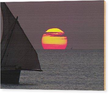 Zanzibar Sunset Wood Print by Giorgio Darrigo