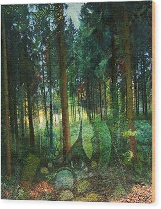 Zauberwald Wood Print by Gertrude Scheffler