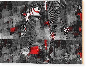 Zebra Art - 56a Wood Print