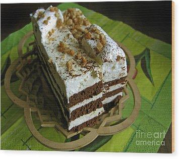 Zebra Cake Wood Print by Ausra Huntington nee Paulauskaite