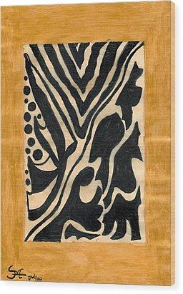 Zebra Wood Print by Carla Sa Fernandes