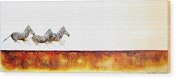 Zebra Crossing - Original Artwork Wood Print