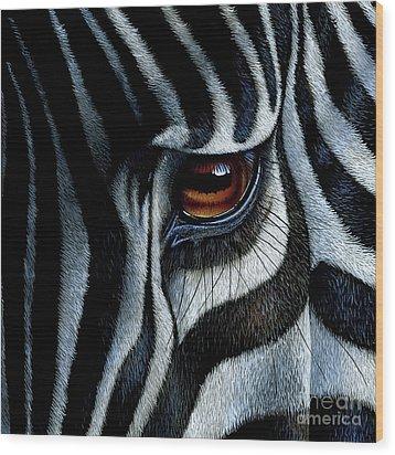 Zebra Wood Print by Jurek Zamoyski