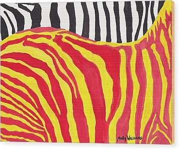 Zebra Wood Print by Molly Williams