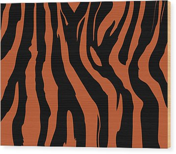Zebra Print 003 Wood Print by Kenneth Feliciano