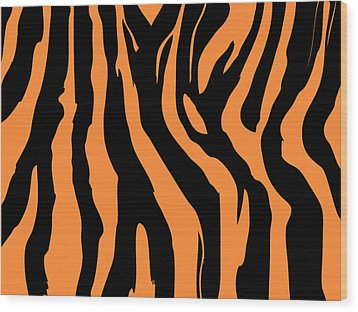 Zebra Print 004 Wood Print by Kenneth Feliciano