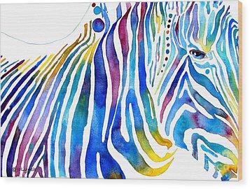Zebra Stripes Wood Print by Jo Lynch