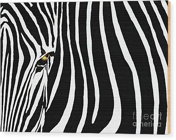 Zebressence Wood Print by Dan Holm