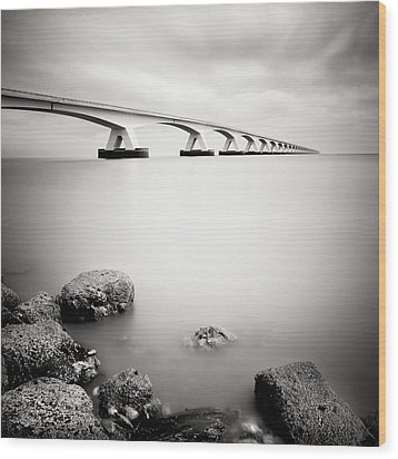 Zeelandbridge II Wood Print by Nina Papiorek