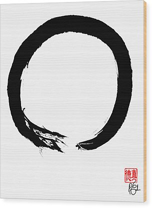 Zen Circle Four Wood Print