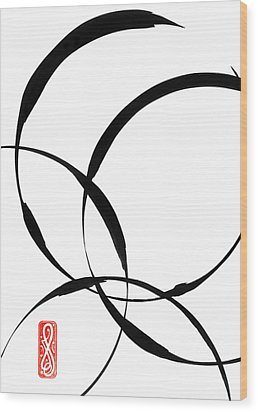 Zen Circles 2 Wood Print by Hakon Soreide