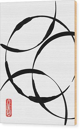 Zen Circles Wood Print by Hakon Soreide