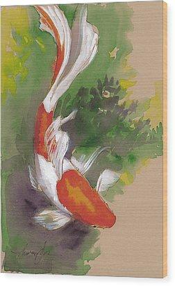 Zen Comet Goldfish Wood Print