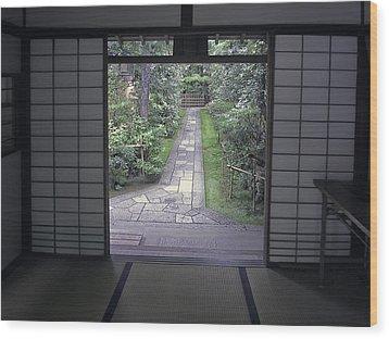Zen Tea House Dream Wood Print by Daniel Hagerman