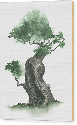 Zen Tree 1000 Wood Print