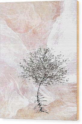 Zen Tree 2 Wood Print by Klara Acel