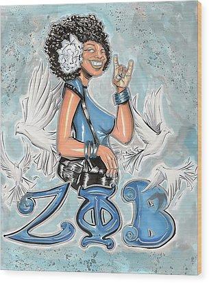 Zeta Phi Beta Sorority Inc Wood Print