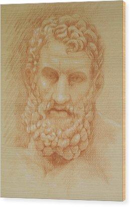 Zeus Wood Print by Deborah Dendler