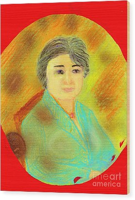 Zhang Yin Queen Of Containerboards Great Chairwoman Of Nine Dragons Paper Industries Wood Print by Richard W Linford