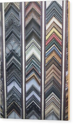 Wood Print featuring the photograph Zig Zags by Fortunate Findings Shirley Dickerson