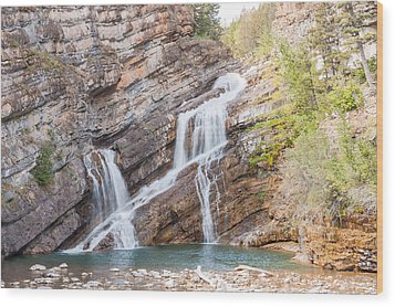 Wood Print featuring the photograph Zigzag Waterfall by John M Bailey