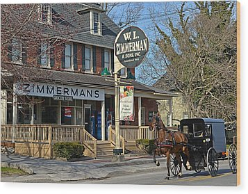 Zimmerman's Store Intercourse Pennsylvania Wood Print