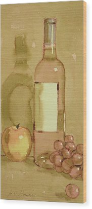 Zinfandel Two Wood Print