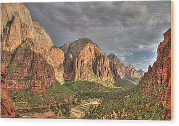 Zion Canyon Wood Print by Jeff Cook